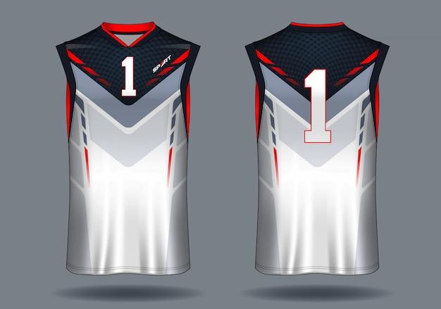 Basketball jersey trägershirt-sportillustration. Premium Vektoren