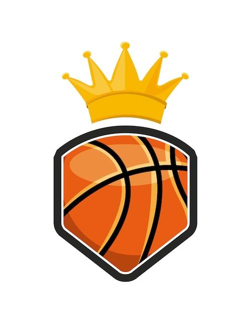 Basketball-liga-emblem klassiker Premium Vektoren