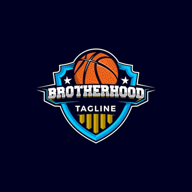Basketball mascot logo Premium Vektoren