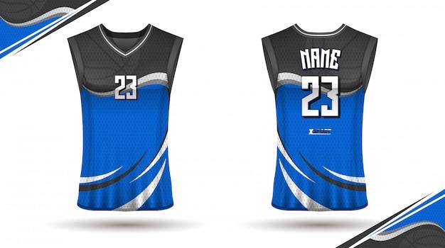 Basketball-shirt-design vorne und hinten Premium Vektoren