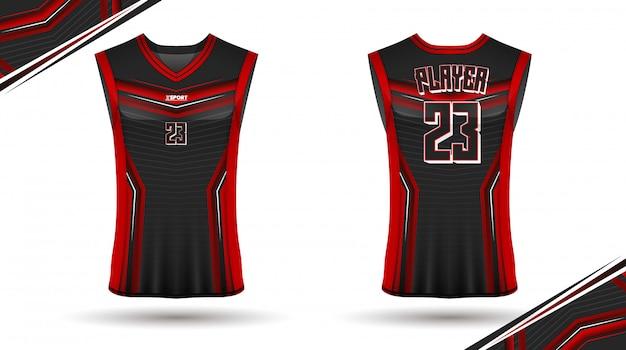 Basketball shirt design, vorne und hinten Premium Vektoren