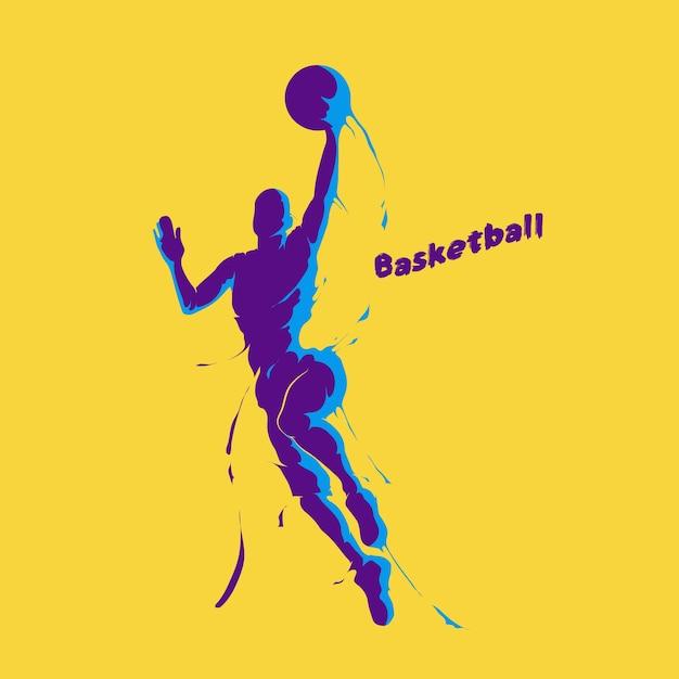 Basketball-spieler-splash Premium Vektoren