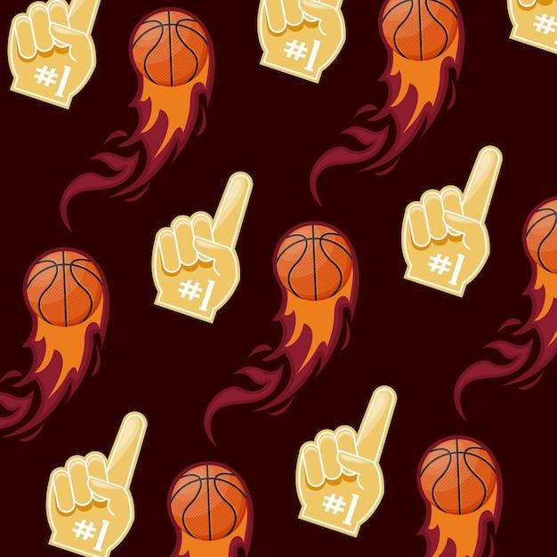 Basketball sport spielmuster Kostenlosen Vektoren