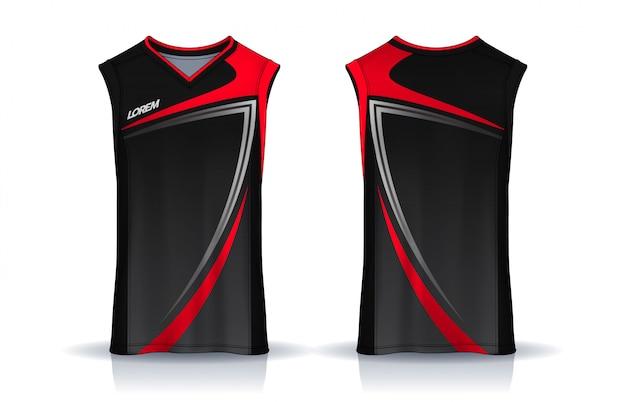 Basketball tank top vorlage Premium Vektoren