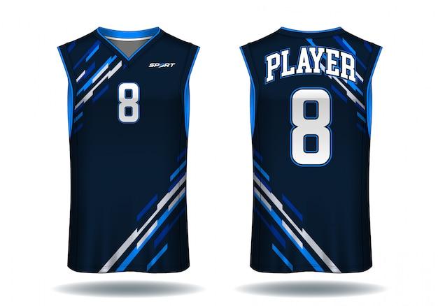 Basketball-trikot, trägersport-sportillustration. Premium Vektoren