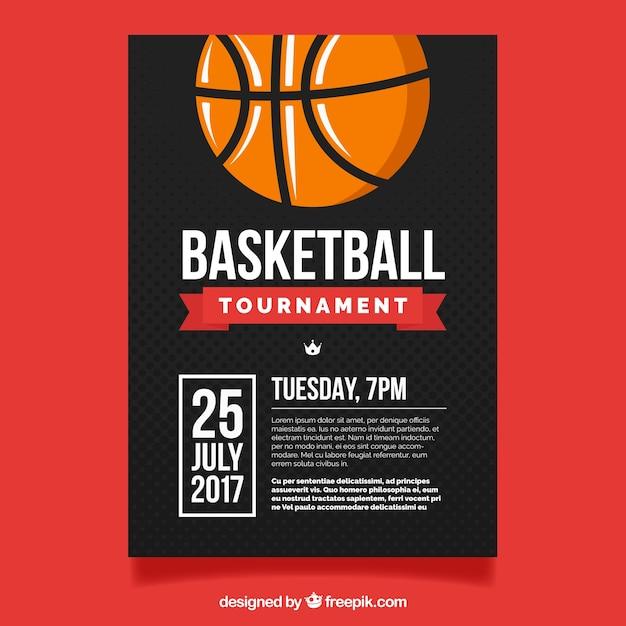 Basketball-Turnier-Flyer | Download der kostenlosen Vektor