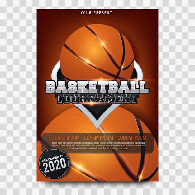 Basketball-turnierplakate Premium Vektoren