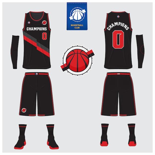 Basketball uniform vorlage design. Premium Vektoren