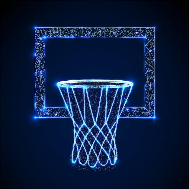 Basketballkorb Premium Vektoren