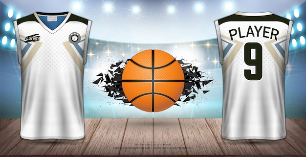 Basketballuniform & jersey-design. Premium Vektoren