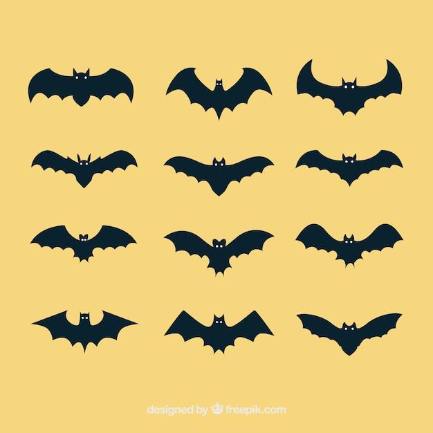 Bat vektorgrafiken Kostenlosen Vektoren