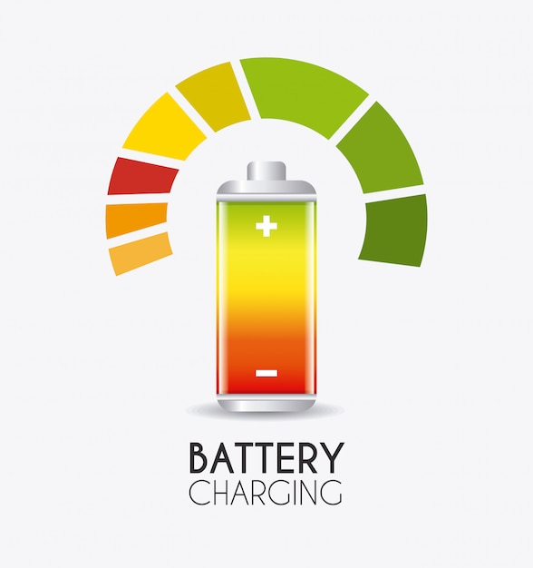 Batterie design. Premium Vektoren
