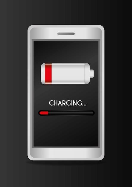 Batteriedesign. Premium Vektoren