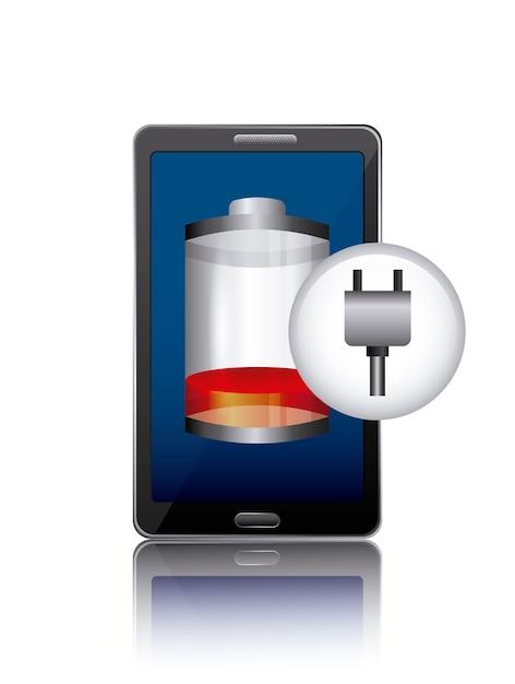 Batterieleistungsdesign, grafik der vektorillustration eps10 Premium Vektoren