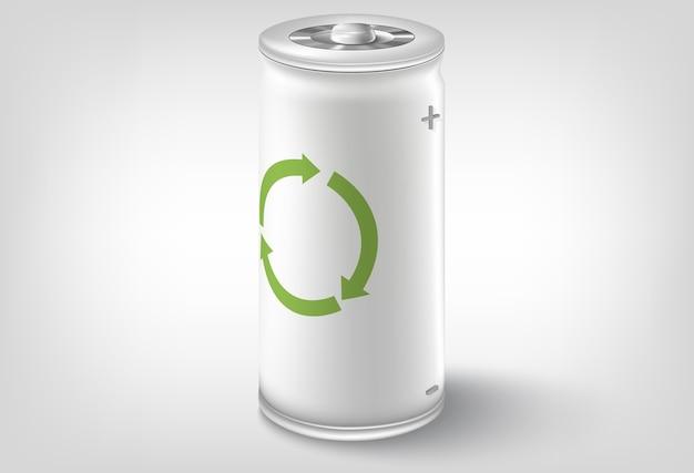 Batteriesymbol. konzeptionelles design Premium Vektoren