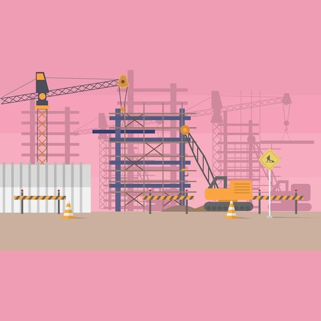 Bau-hintergrund-design Kostenlosen Vektoren