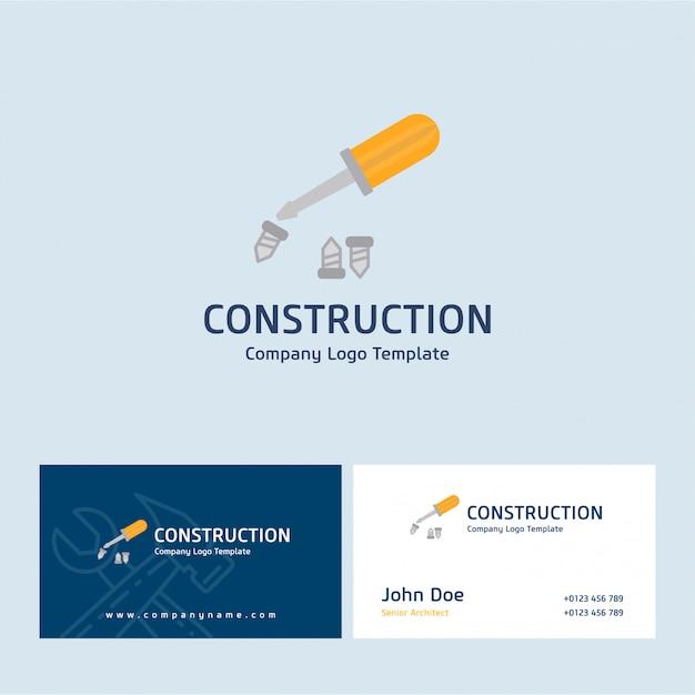 Bau logo und karte Kostenlosen Vektoren