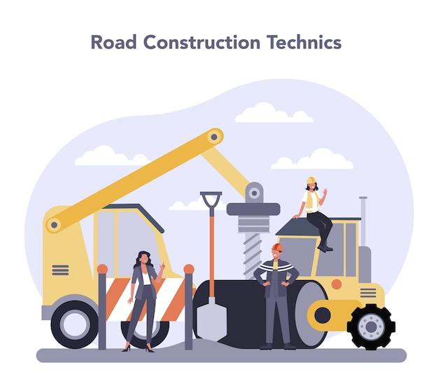 Bau- und maschinenbauindustrie Premium Vektoren