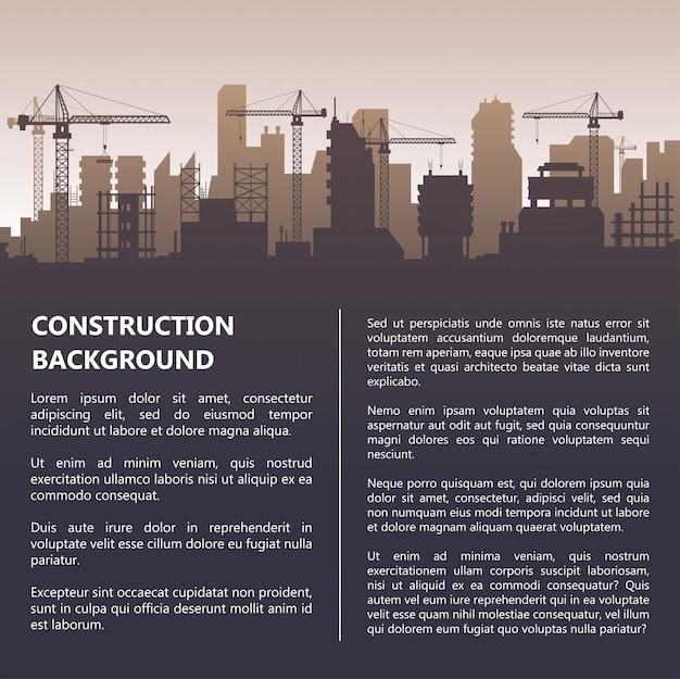 Bau vorlage Premium Vektoren