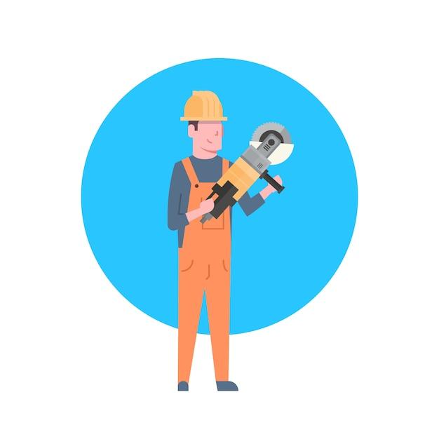 Bauarbeiter-icon-erbauer-mann-tragender sturzhelm Premium Vektoren
