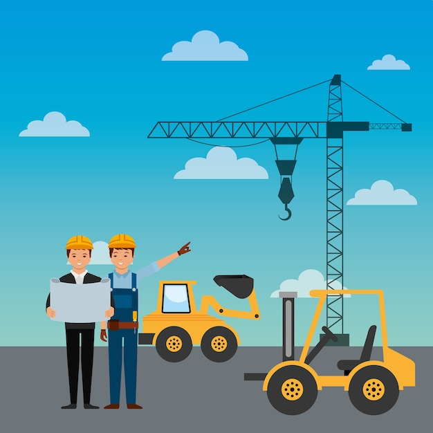 Bauarbeiter Premium Vektoren
