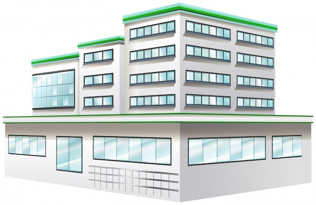 Bauentwurf für krankenhaus Kostenlosen Vektoren