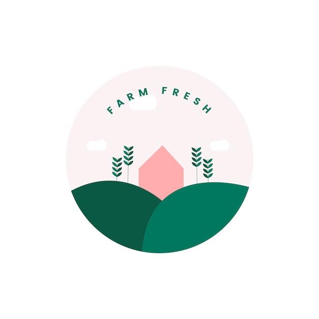 Bauernhof frisch und bio-symbol Kostenlosen Vektoren