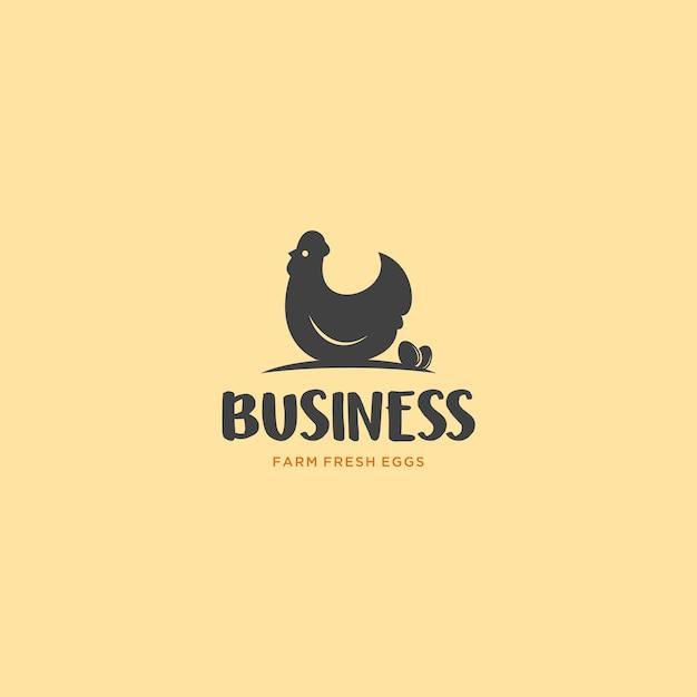 Bauernhof-frisches ei-logo Premium Vektoren