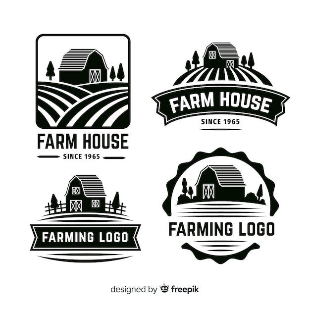 Bauernhof logo collectio Kostenlosen Vektoren
