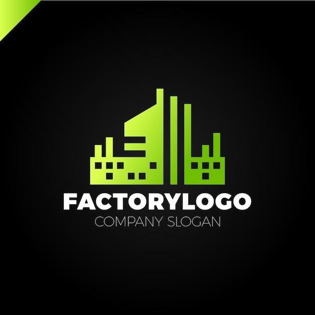 Baufirma, fabrik oder manufaktur-logo Premium Vektoren