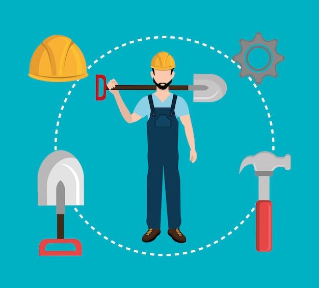 Baugewerbe und werkzeuge Kostenlosen Vektoren
