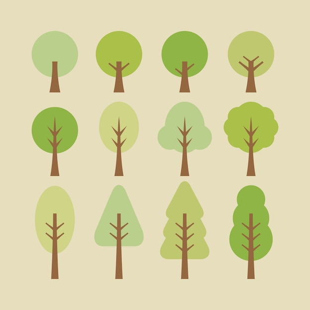 Baum abbildung Premium Vektoren