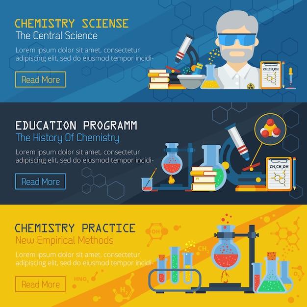 Baum-chemie-horizontale banner Kostenlosen Vektoren