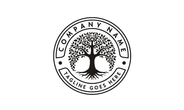Baum des lebens logo design inspiration Premium Vektoren