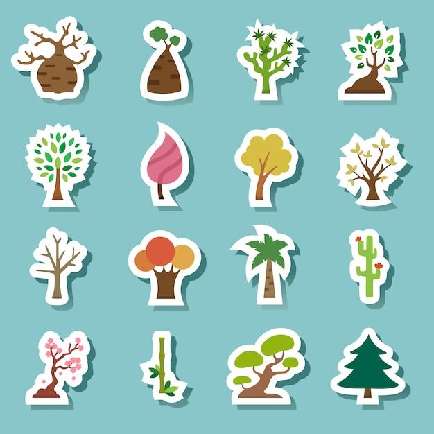Baum iconss Premium Vektoren