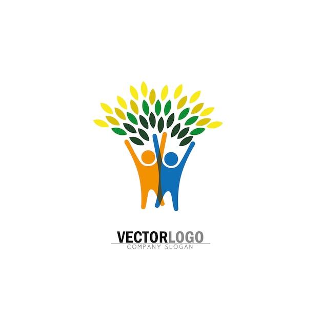 baum logo design download der kostenlosen vektor