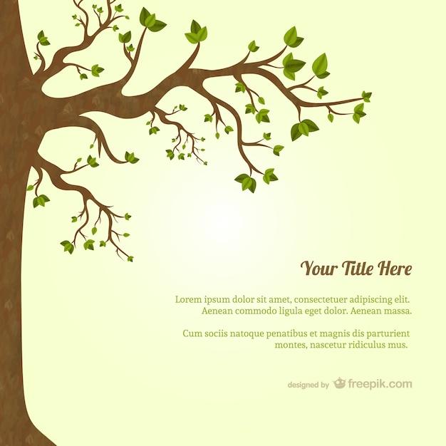 Baum mit Blättern Vorlage Kostenlose Vektoren
