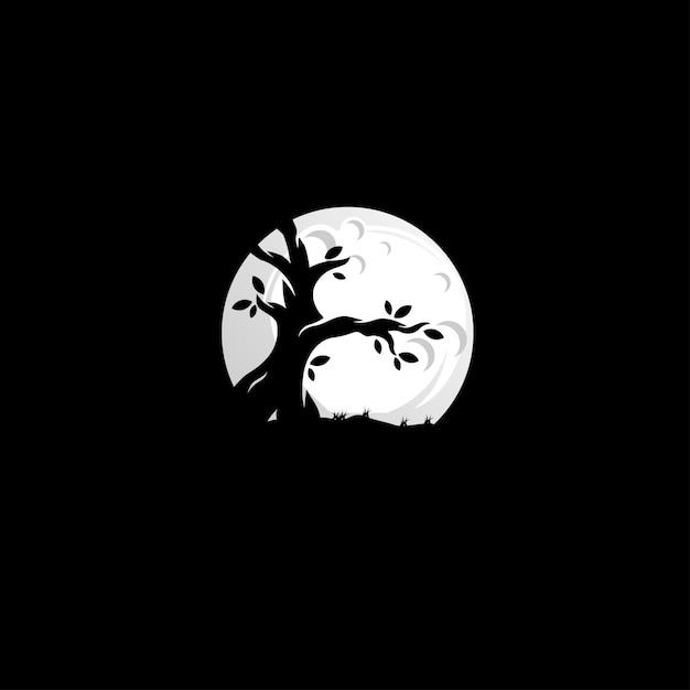 Baum nacht logo Premium Vektoren