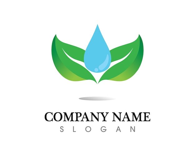 Baumblatt-logodesign, umweltfreundliches konzept. Premium Vektoren