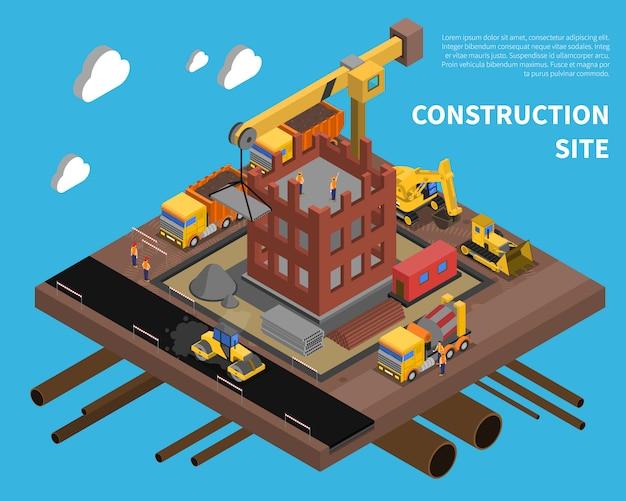 Baustelle illustration Kostenlosen Vektoren