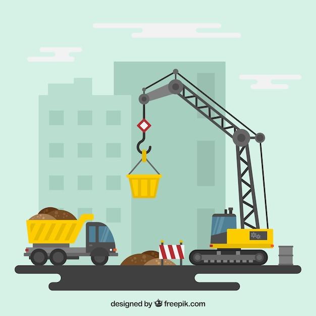 Baustelle Kostenlose Vektoren