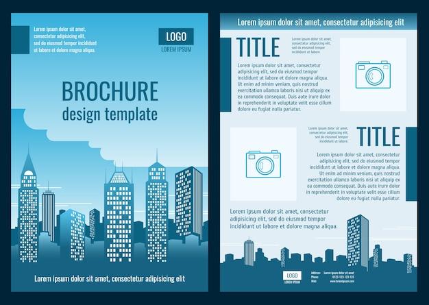Bauunternehmen business broschüre vektor vorlage Premium Vektoren