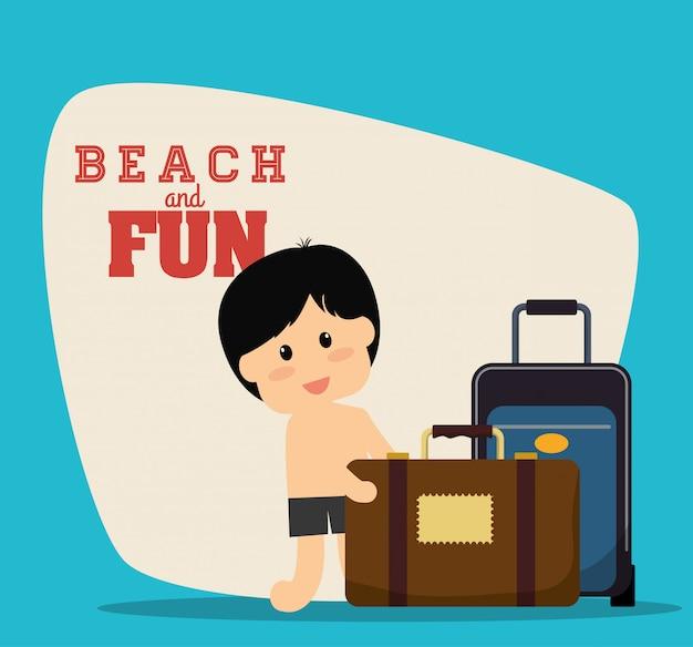 Beach design Premium Vektoren