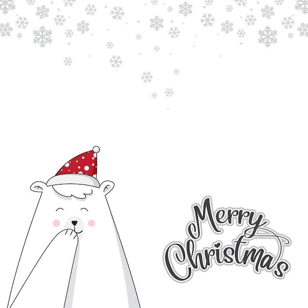 Bear cute weihnachten Premium Vektoren