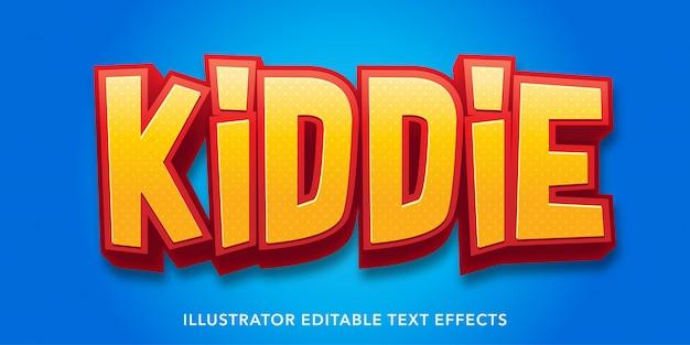 Bearbeitbare texteffektvorlagen im kinderstil Premium Vektoren