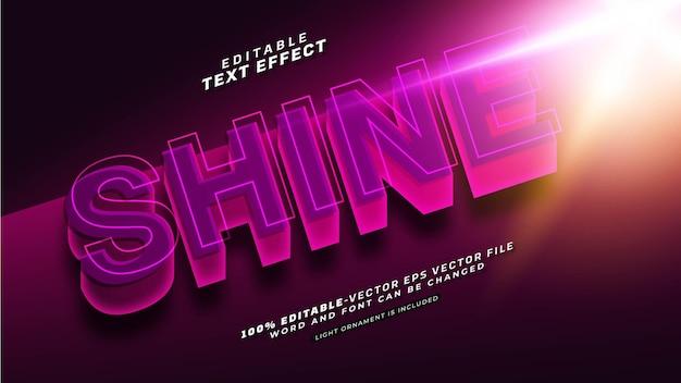 Bearbeitbarer shine-text-effekt Kostenlosen Vektoren