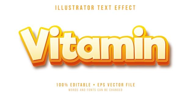 Bearbeitbarer texteffekt - 3d-fettdruckstil Premium Vektoren