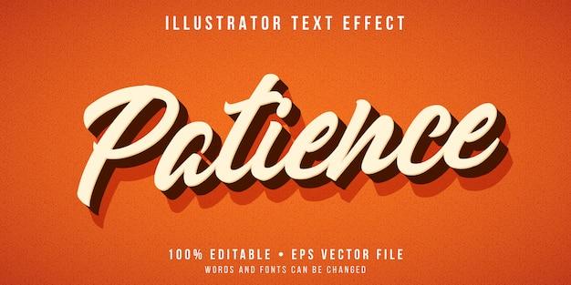 Bearbeitbarer texteffekt - 3d-skripttextstil Premium Vektoren