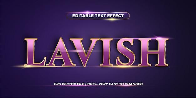 Bearbeitbarer texteffekt - aufwändiges wortstilkonzept Premium Vektoren