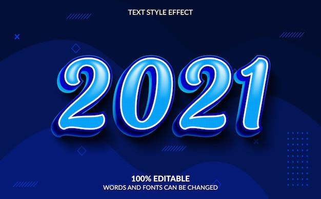 Bearbeitbarer texteffekt, frohes neues jahr-textstil Premium Vektoren